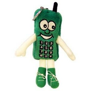 "4"" Green Cell Phone Key Chain"