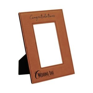 "Leatherette Picture Frame (Holds 4""x6"" Photo)"