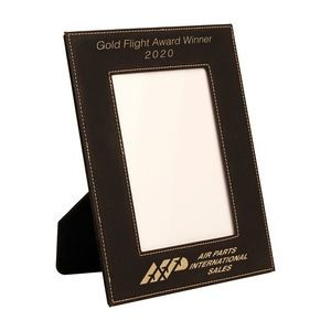 "Leatherette Picture Frame (Holds 5""x7"" Photo)"