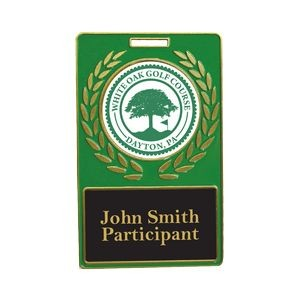 Vibraprint™ Green Rectangle Wreath Bag Tag