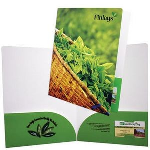 "Large Presentation Folder with 2 Curved Pockets (9""x12"") printed in full color 4/0"