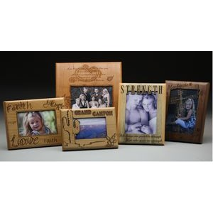 "7"" x 9"" - Hardwood Signs, Plaques or Frames - Engraved - USA-Made"