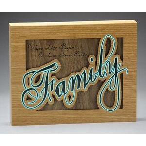 "6"" x 8"" - Hardwood Signs, Plaques or Frames - Laser Engraved - USA-Made"