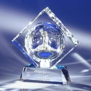 Perfect Lines Crystal Golf Award