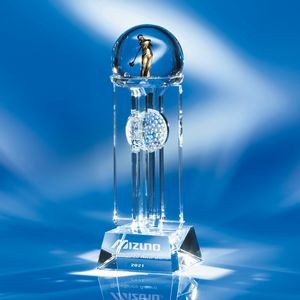 "Top Of The World Crystal Golf Award 10""H"