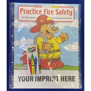 Practice Fire Safety Coloring Book Fun Pack