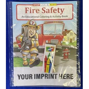 Fire Safety Coloring & Activity Book Fun Pack