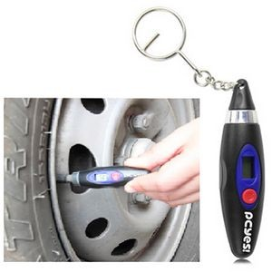 LCD Digital Tire Gauge w/Keychain