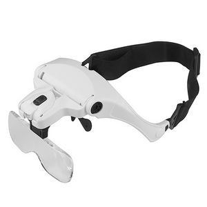 Head Mount Magnifier with 2 Leds