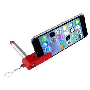 Key Chain Ballpoint Pen w/Phone Stand and Stylus