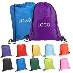 Quick-Sling Polyester Drawstring Backpack
