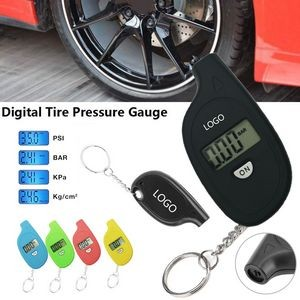 Mini Digital Tire Pressure Gauge With Key Chain