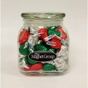 Holiday Hersheys® Kisses® in Med Glass Jar