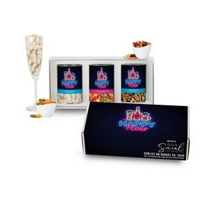 3 Way Boozy Snacks Gift Set in Mailer Box - Happy Hour