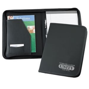 Union Made in USA Leather Letter Zipper Folder