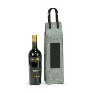 Wine Caddy - Grey Felt/Black Trim