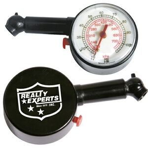 Round Analog Display Auto Tire Gauge