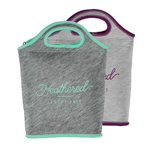 Venti Heathered Jersey Knit Neoprene Lunch Bag