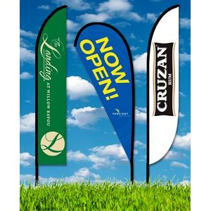 Zoom 5 Feather Flag w/ Stand - 15.7ft Double Sided Graphic