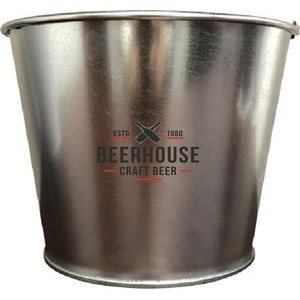 5 QT Galvanized Bucket w/Metal Handle