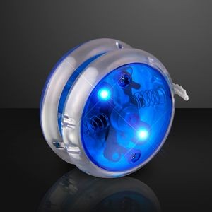 Flashing Blue Yo Yo Light Up Toy - BLANK