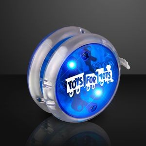 Custom Flashing Blue Yo Yo Light Up Toy