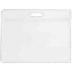 "Clear Vinyl Horizontal Badge Holder (3 1/2""x2 1/2""x0.04"")"