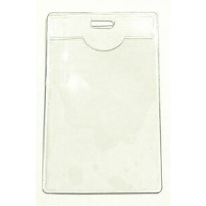 "Clear Vinyl Vertical Badge Holder (2 1/4""x3 1/4""x0.04"")"